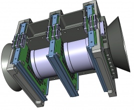 Drawing of the Mini.PAN instrument being developed by the PAN collaboration