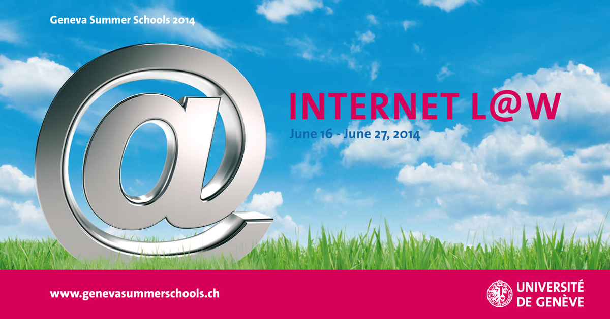 Flyer of the Internet L@w Summer School 2014