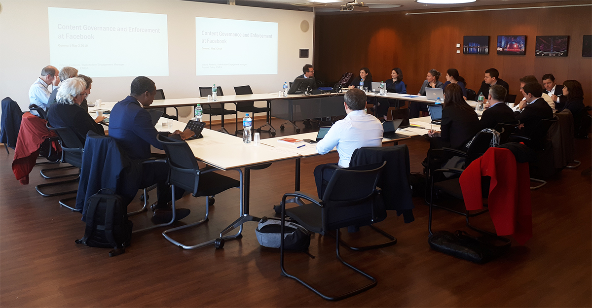 Consultation workshop on Facebook's oversight board held at the University of Geneva on May 3, 2019