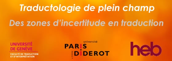 Colloque Traductologie de plein champ