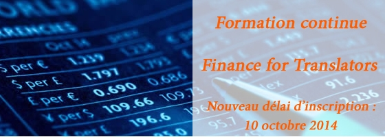Formation continue : Finance for Translators