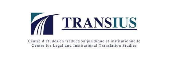 Logo du Centre d'études en traduction juridique et institutionnelle (Transius) du Département de traduction