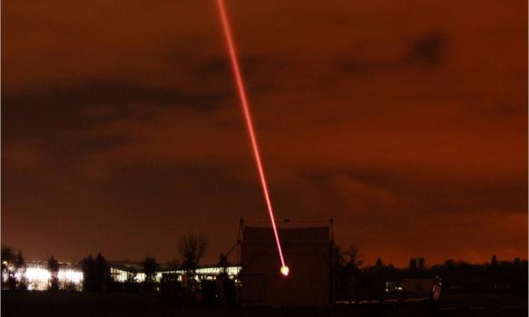Laser beam picture