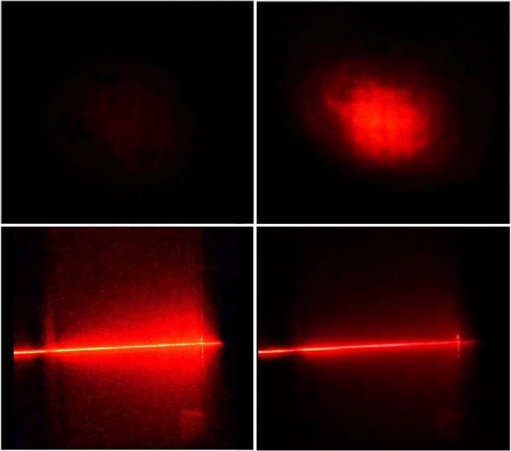 Laser scattering in cloud