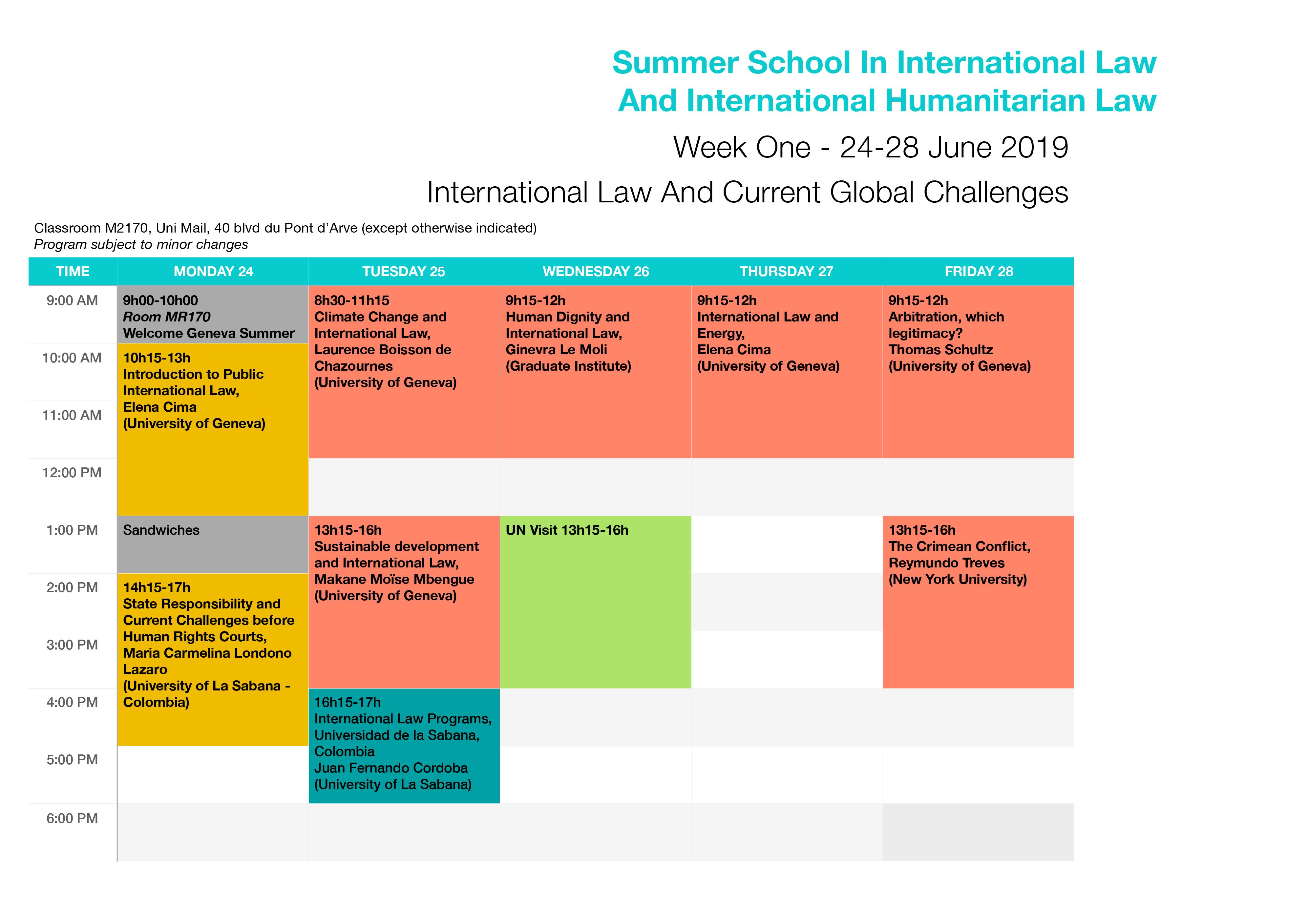 Geneva Summer Schools • International Law & International