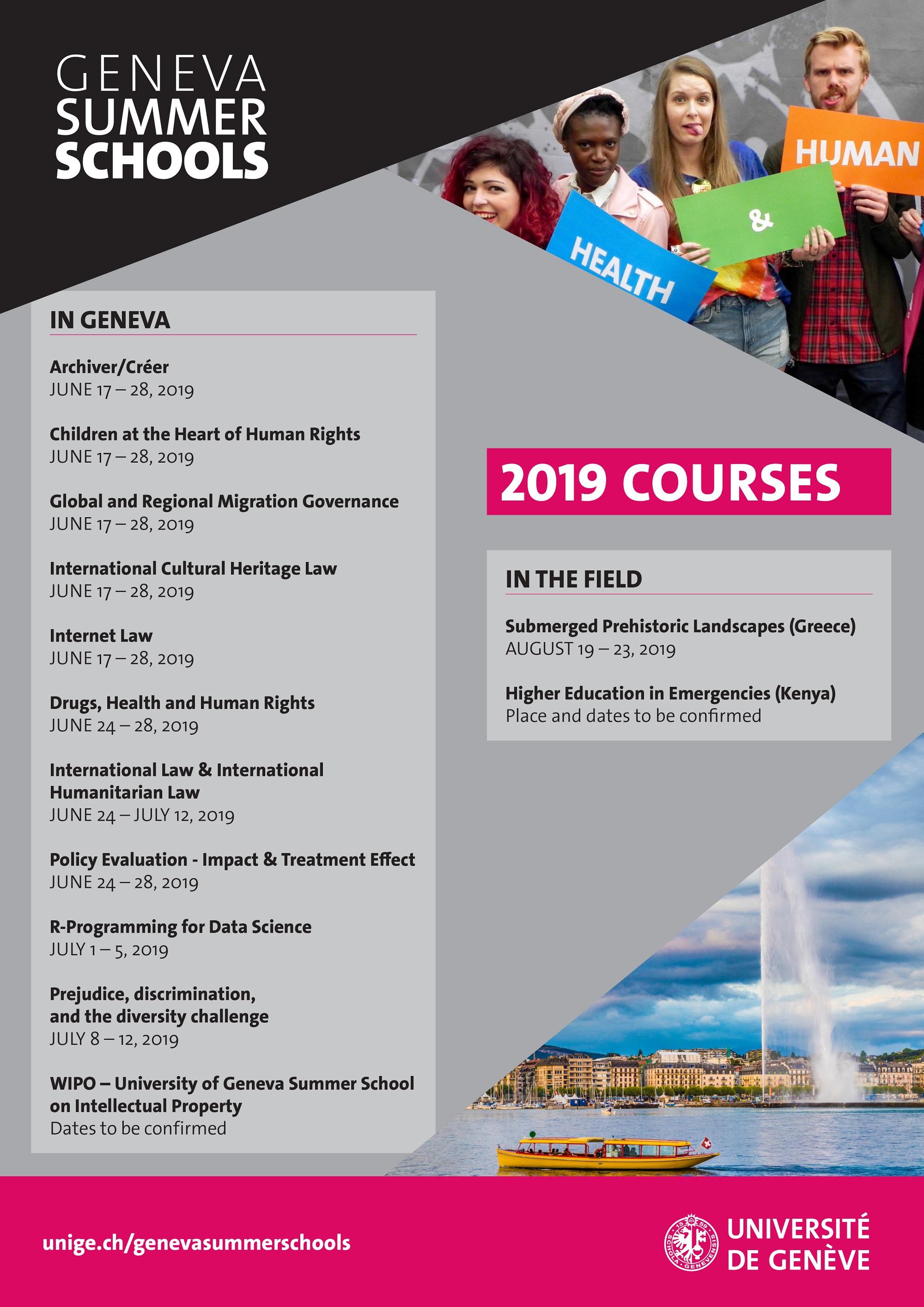 Geneva Summer Schools • GSS Programme