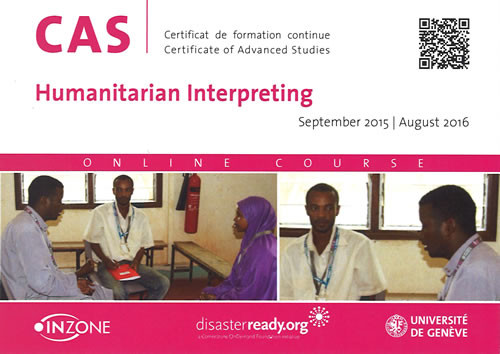 CAS in Humanitarian Interpreting