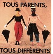 """Affiche de l'exposition """"Tous parents tous différents"""" de Ninian Hubert van Blyenburgh  © JP Goude"""