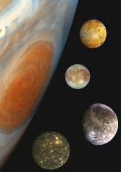 Satellites de Jupiter © NASA/JPL
