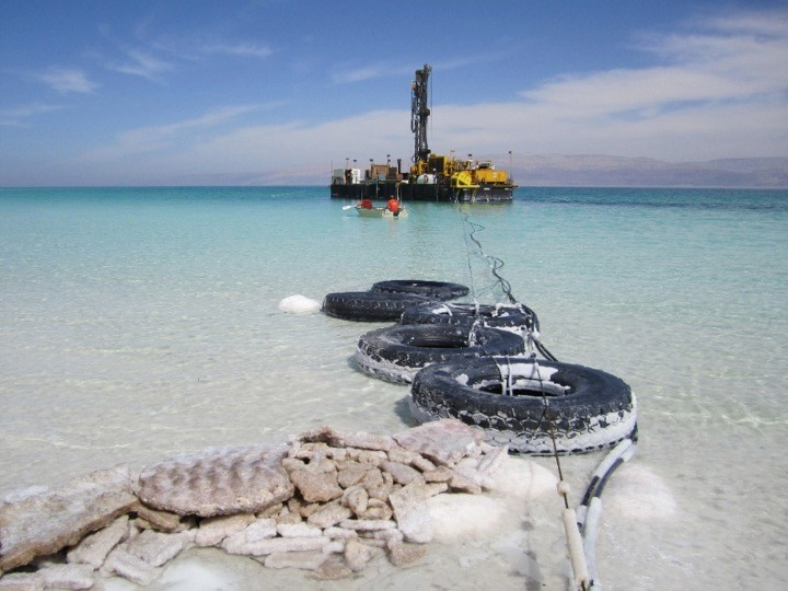 Dead Sea drilling site 2 (ICDP picture)